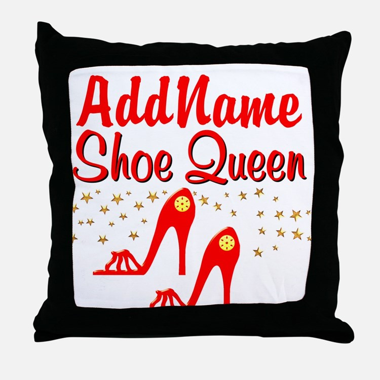 WILD RED SHOES Throw Pillow