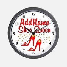 WILD RED SHOES Wall Clock
