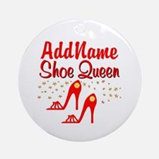 WILD RED SHOES Ornament (Round)