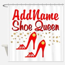 WILD RED SHOES Shower Curtain