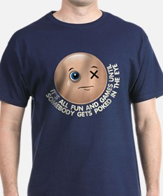 Funny Eye Poked Out In Trouble T-Shirt