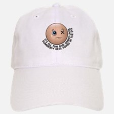 Funny Eye Poked Out In Trouble Baseball Baseball Cap