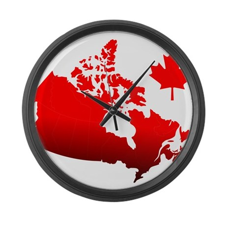 canada map large wall clock by nemoreodi45