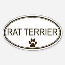 Oval Rat Terrier Oval Decal