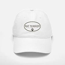 Oval Rat Terrier Baseball Baseball Cap