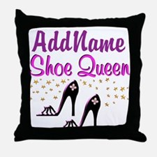 FUN PURPLE SHOES Throw Pillow