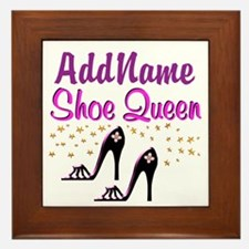 FUN PURPLE SHOES Framed Tile