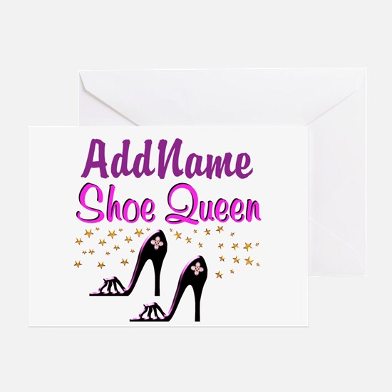 FUN PURPLE SHOES Greeting Card