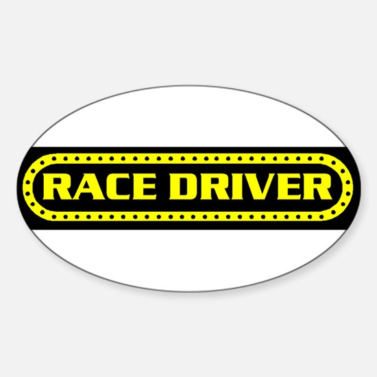 RACE DRIVER Oval Decal