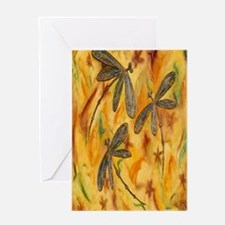 Dragonfly Flit Warm Breeze Greeting Card