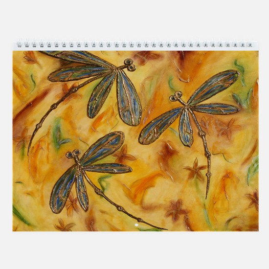 Dragonfly Flit Warm Breeze Wall Calendar