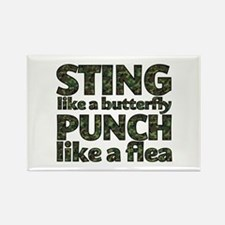 Sting like a butterfly Rectangle Magnet