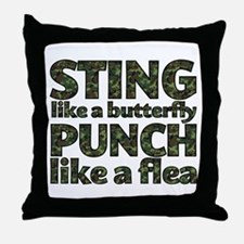 Sting like a butterfly Throw Pillow