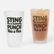 Sting like a butterfly Drinking Glass