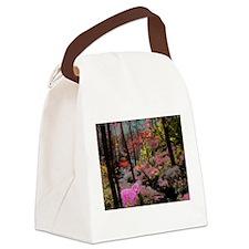 Pink Poodle Paradise Canvas Lunch Bag