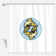 Pisces Zodiac Sign Shower Curtain