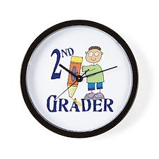 2nd Grade Boy Wall Clock