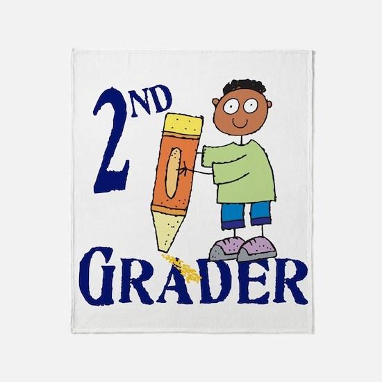 2nd Grade Boy Throw Blanket