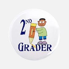 "2nd Grade Boy 3.5"" Button"