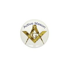 Masonic Active Mason Mini Button (10 pack)