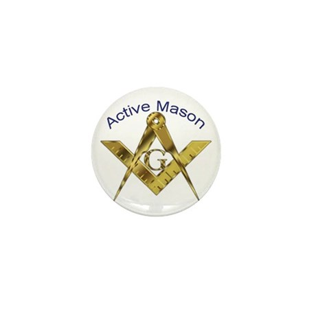 Masonic Active Mason Mini Button