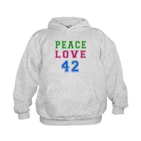Peace Love 38 birthday designs Kids Hoodie