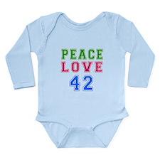 Peace Love 38 birthday designs Long Sleeve Infant
