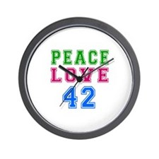 Peace Love 38 birthday designs Wall Clock