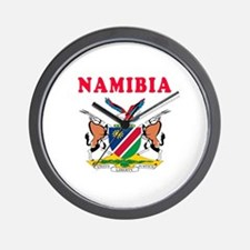 Namibia Coat Of Arms Designs Wall Clock