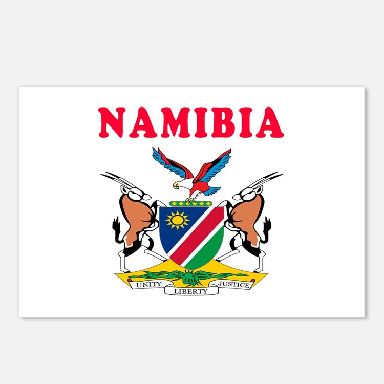 Namibia Coat Of Arms Designs Postcards (Package of