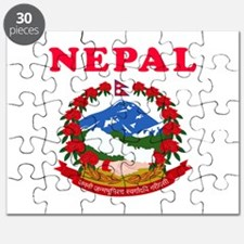 Nepal Coat Of Arms Designs Puzzle