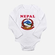 Nepal Coat Of Arms Designs Long Sleeve Infant Body