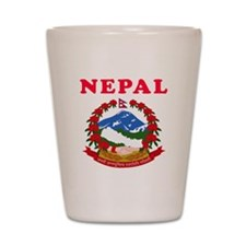 Nepal Coat Of Arms Designs Shot Glass