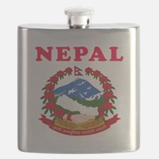 Nepal Coat Of Arms Designs Flask