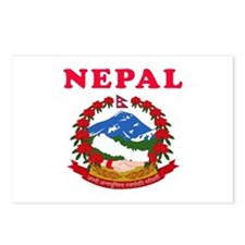 Nepal Coat Of Arms Designs Postcards (Package of 8