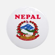 Nepal Coat Of Arms Designs Ornament (Round)