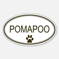 Oval Pomapoo Oval Decal