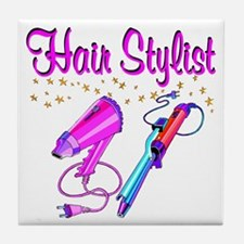 HAIR STYLIST Tile Coaster
