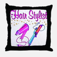 HAIR STYLIST Throw Pillow