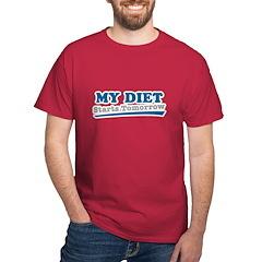 My Diet Starts Tomorrow T-Shirt