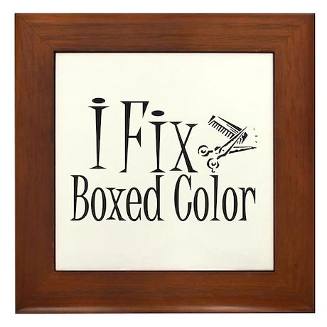 I Fix Boxed Color Framed Tile