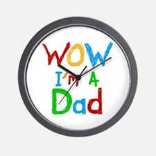 WOW I'm a Dad Wall Clock