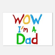 WOW I'm a Dad Postcards (Package of 8)