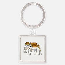 Thai Erawan White Elephant Keychains