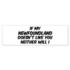If my Newfoundland Bumper Bumper Sticker