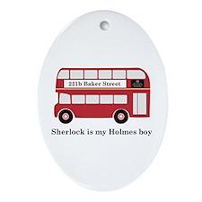 Sherlock is My Holmes Boy Ornament (Oval)