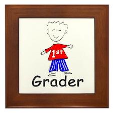 First Grade Boy Framed Tile