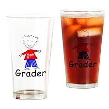 First Grade Boy Drinking Glass