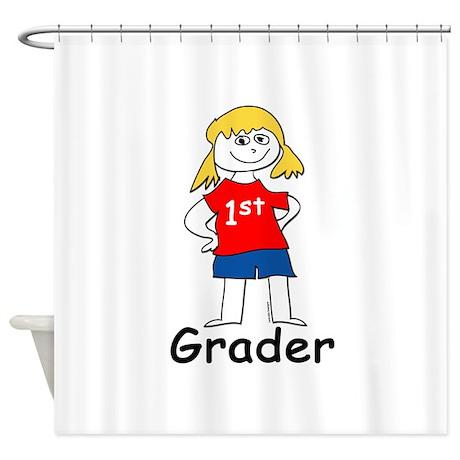 First Grade Girl Shower Curtain