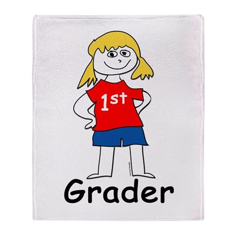 First Grade Girl Throw Blanket